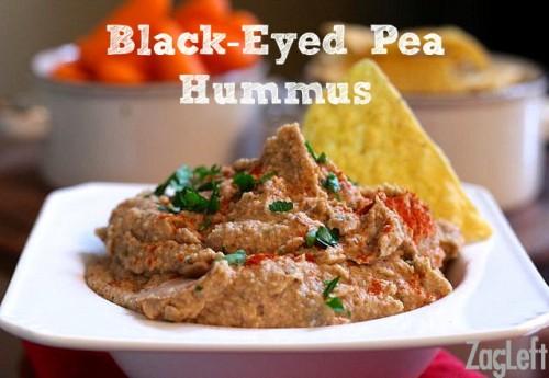 black eyed pea hummus in bowl promo pin