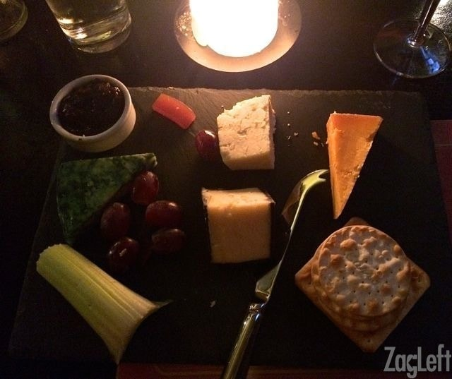Cheese plate from Ye Olde Cheshire Cheese in London | One Dish Kitchen