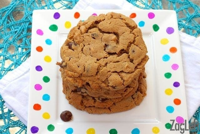 Flourless Peanut Butter Chocolate Chip Cookie Recipe | One Dish Kitchen