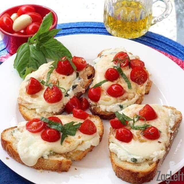 Caprese Toasts   One Dish Kitchen