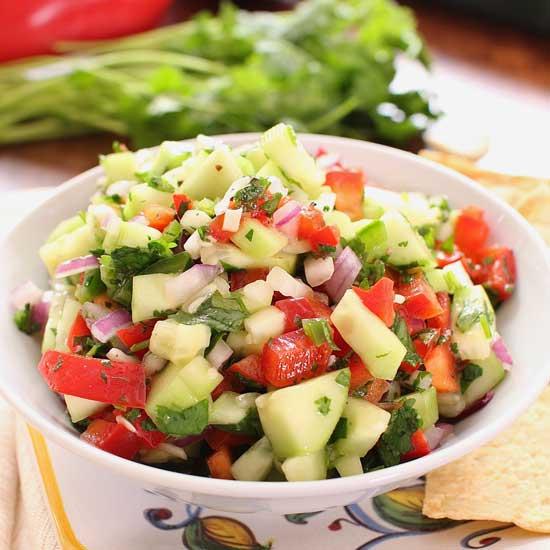 Cucumber Salsa | One Dish Kitchen