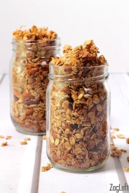 Homemade Butter Pecan Granola - sweet, crunchy and full of so much flavor. This butter pecangranola can be made in minutes and tastes so good! | One Dish Kitchen