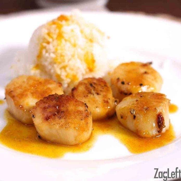 Single Serving Scallops With Orange Sauce Recipe | One Dish Kitchen