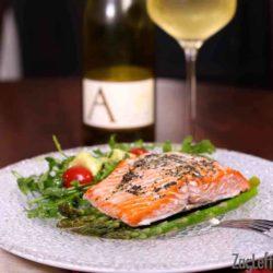 Roasted Salmon and Asparagus   ZagLeft