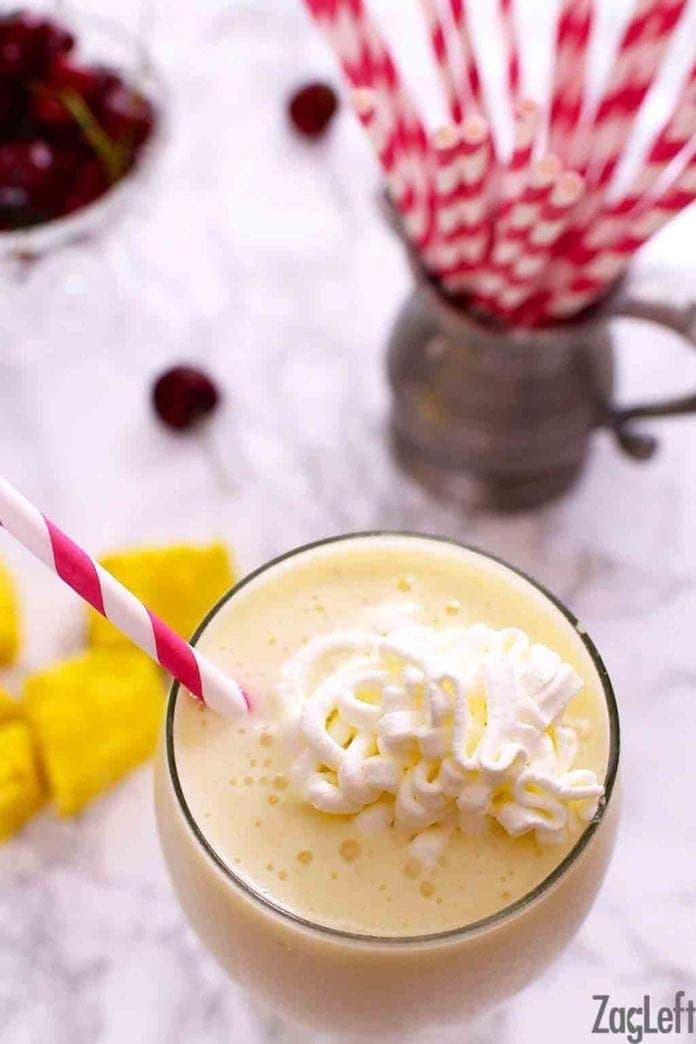 Pina Colada Smoothie Recipe   One Dish Kitchen   tropical smoothie