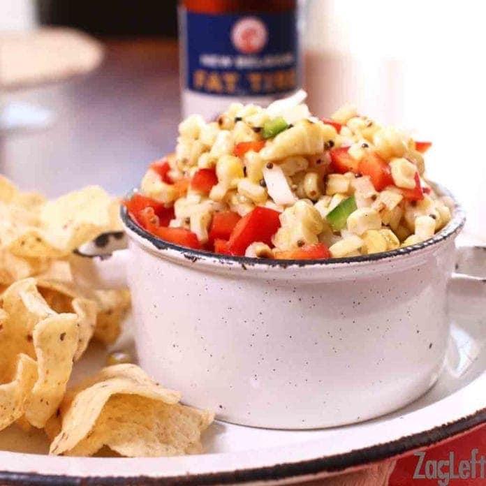 bowl of Corn Salsa