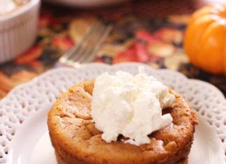 Pumpkin Pie For One | onedishkitchen.com