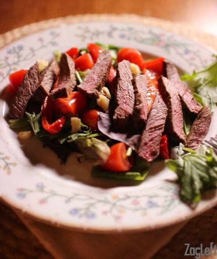 Steak Salad  | Single Serving | One Dish Kitchen
