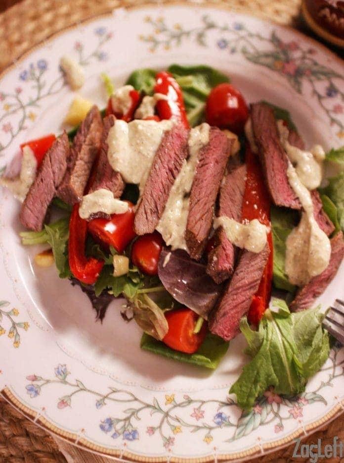 Steak Salad with Gorgonzola Dressing | One Dish Kitchen