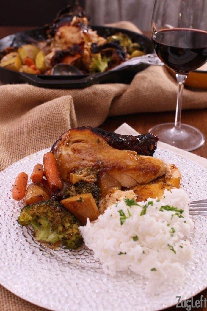 Oven Baked BBQ Chicken Recipe   One Dish Kitchen   Cast Iron Recipe