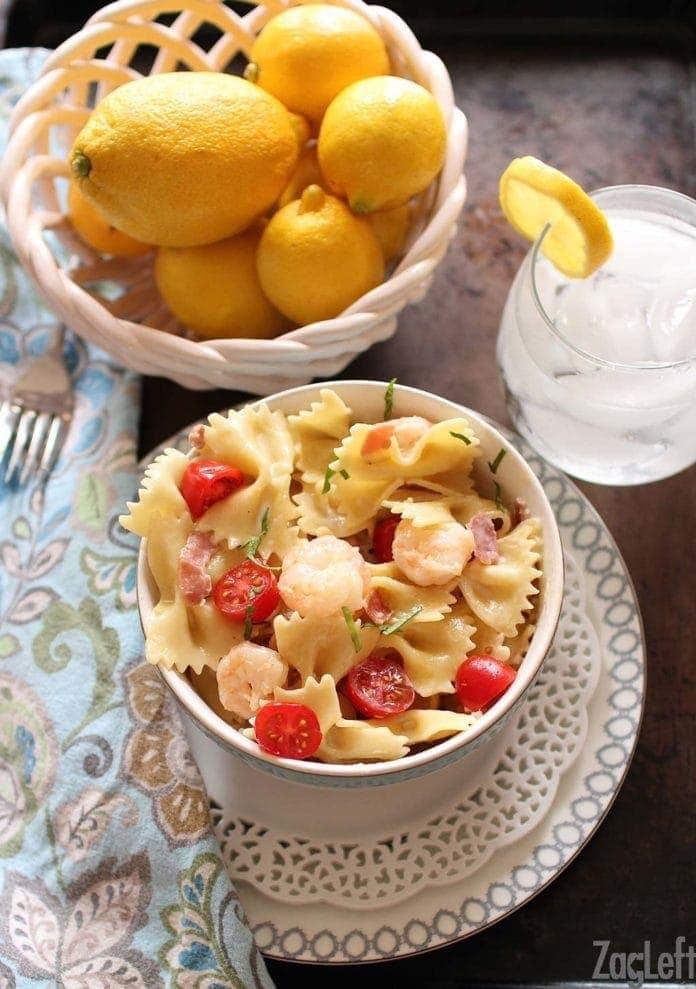 Shrimp and Prosciutto Pasta | One Dish Kitchen
