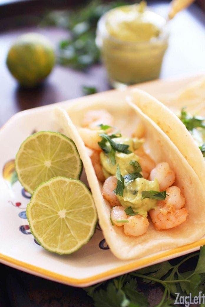 shrimp tacos   one dish kitchen