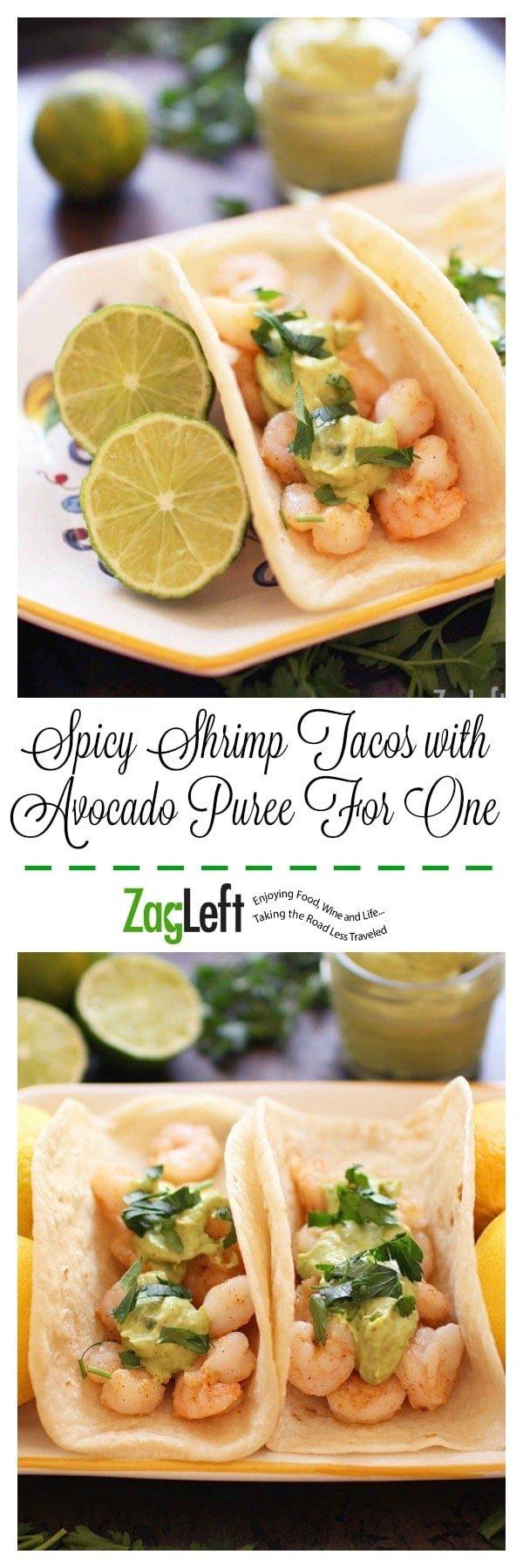 Spicy Shrimp Tacos with Avocado Puree   ZagLeft