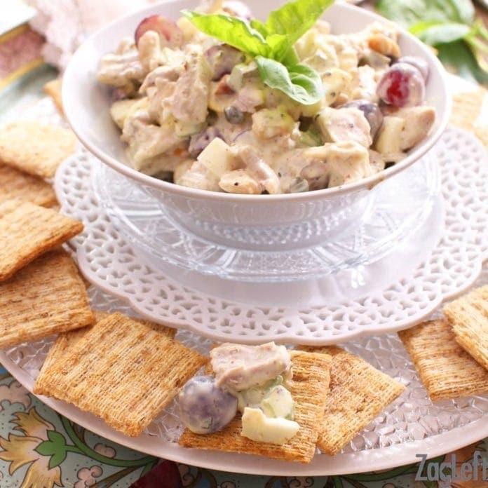chicken salad on a cracker | one dish kitchen