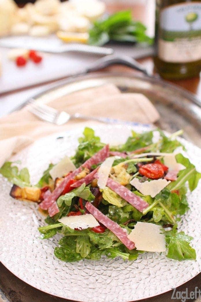 Antipasto Salad on a plate