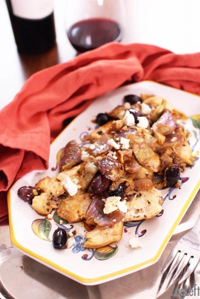 skillet chicken with artichokes   one dish kitchen