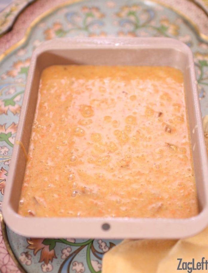 batter in baking pan