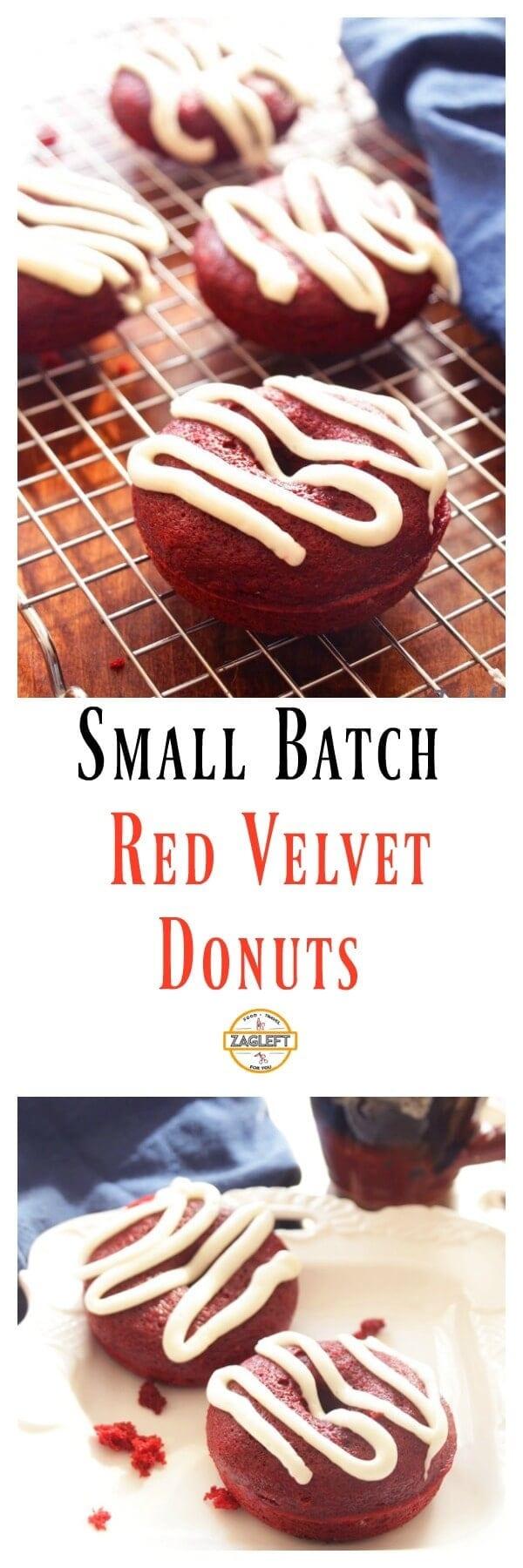 Small Batch Red Velvet Donuts ZagLeft
