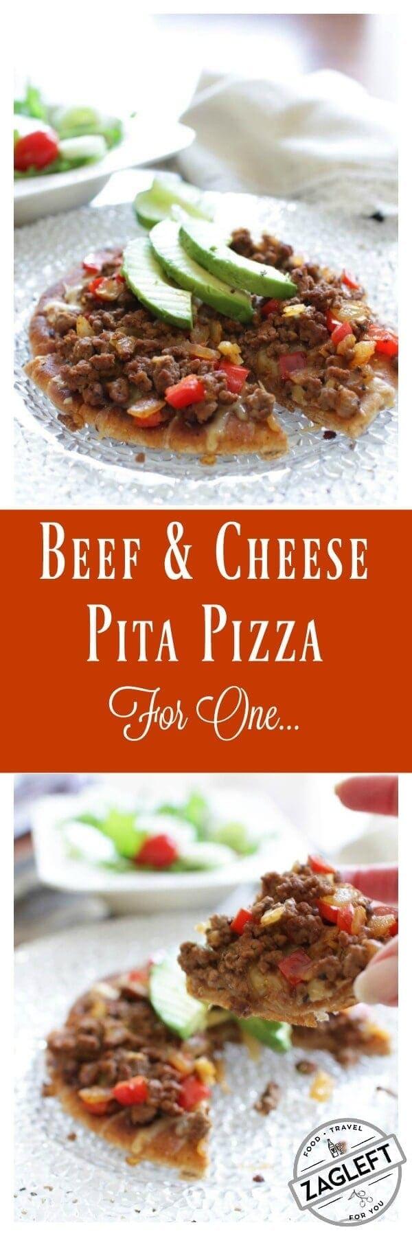 Beef and Cheese Pita Pizza ZagLeft