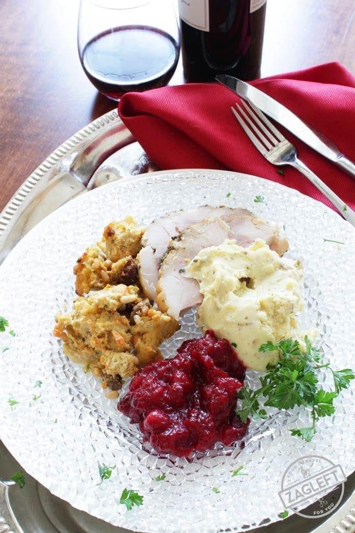 roast turkey on a plate | one dish kitchen