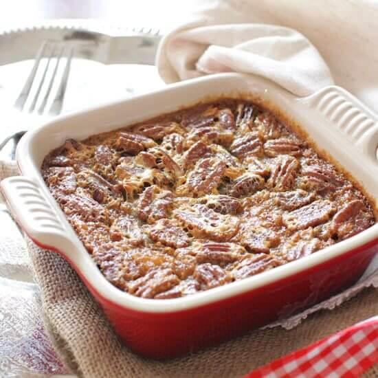 Pecan Pie For One | onedishkitchen.com