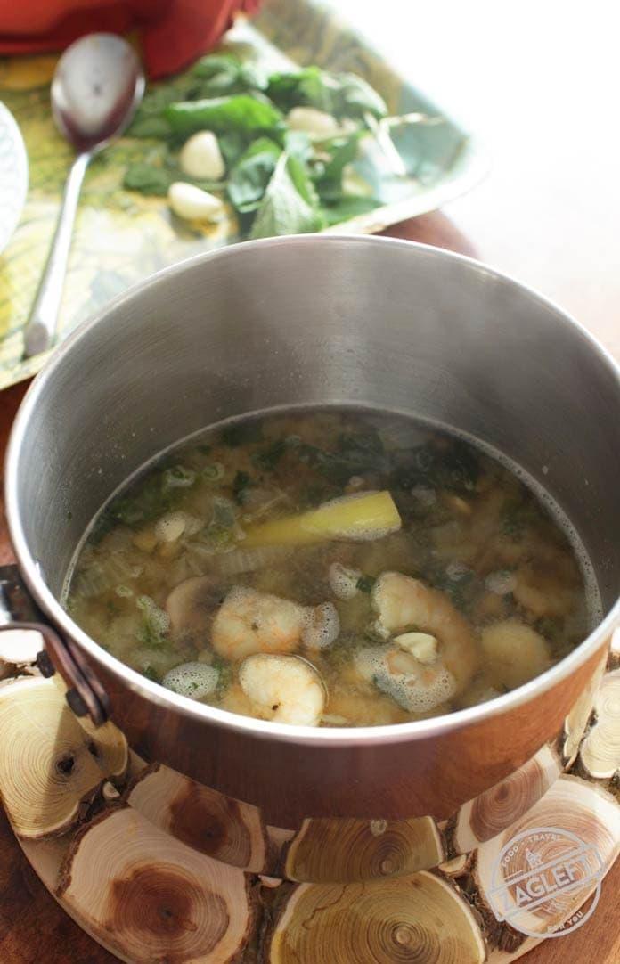 pot of thai shrimp soup | one dish kitchen