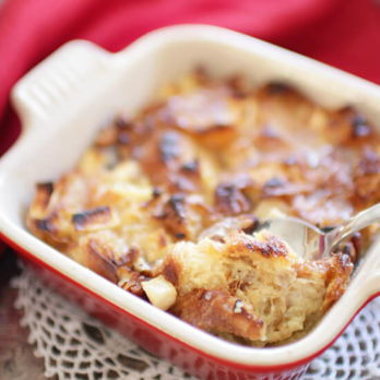 Croissant Breakfast Bread Pudding For One | One Dish Kitchen