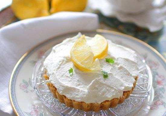 Lemon Cheesecake Mousse For One   onedishkitchen.com