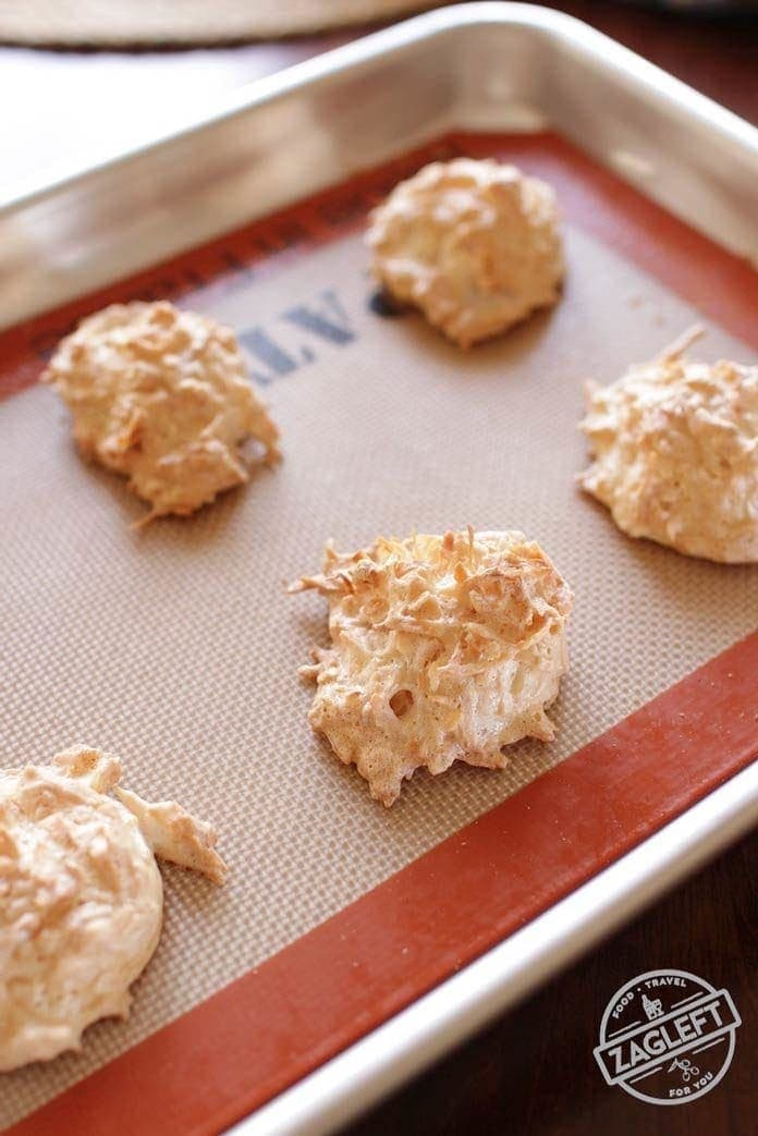 These Small Batch Coconut Macaroons are ideal for anyone cooking for one. Soft and chewy centers, crispy outsides and so easy to make. Just one egg white and a few other ingredients needed to make these sweet coconut-filled treats. | onedishkitchen.com