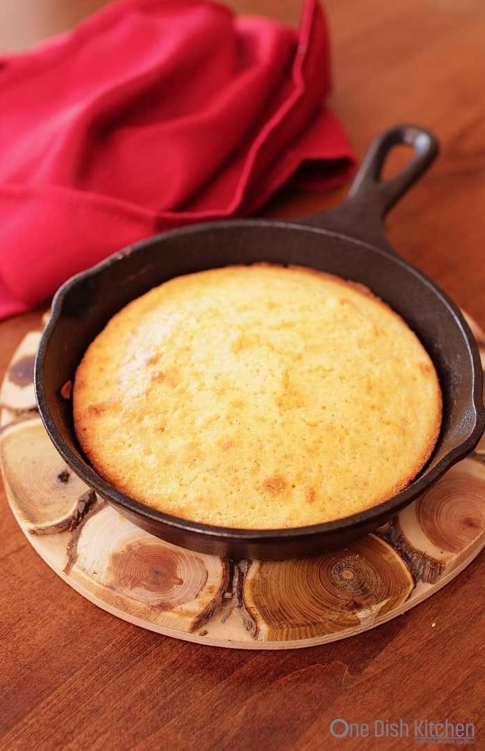 small pan of cornbread   one dish kitchen   cornbread recipe