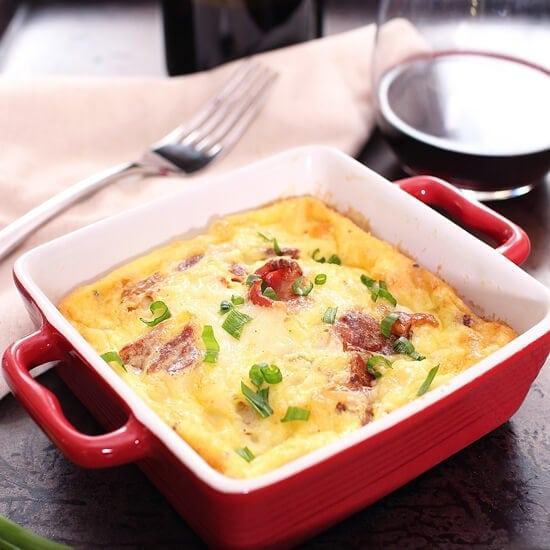 Crustless Quiche Lorraine For One | One Dish Kitchen
