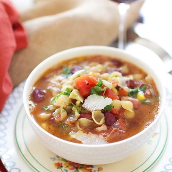 Minestrone Soup For One | One Dish Kitchen