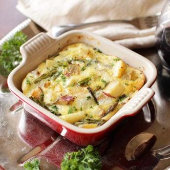 Potato, Asparagus and Fontina Crustless Quiche