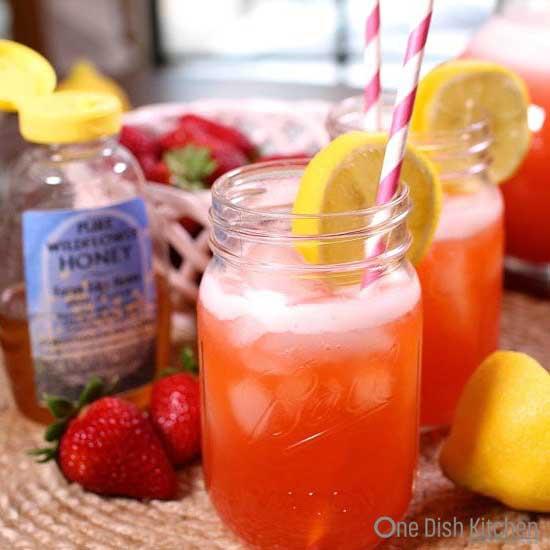 Strawberry Lemonade with Honey   One Dish Kitchen