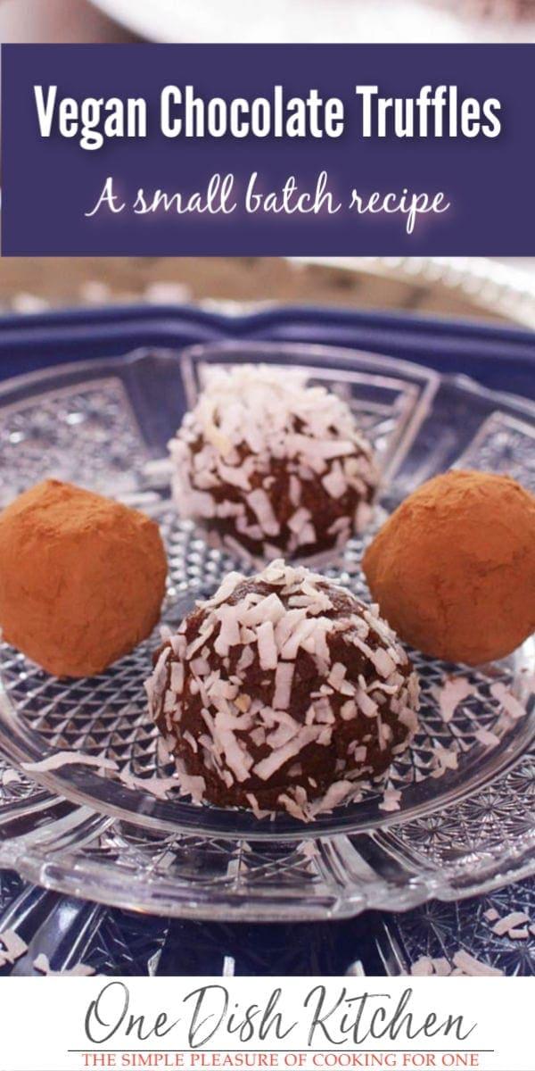 vegan truffles | one dish kitchen