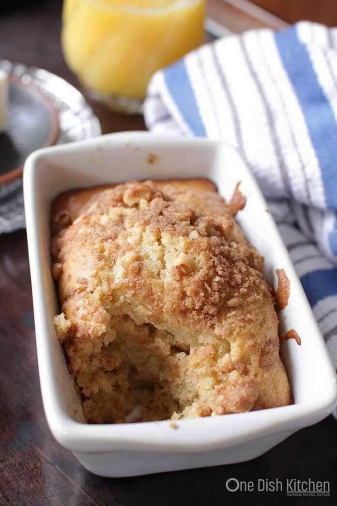 Maple Walnut Muffin baked in a ramekin