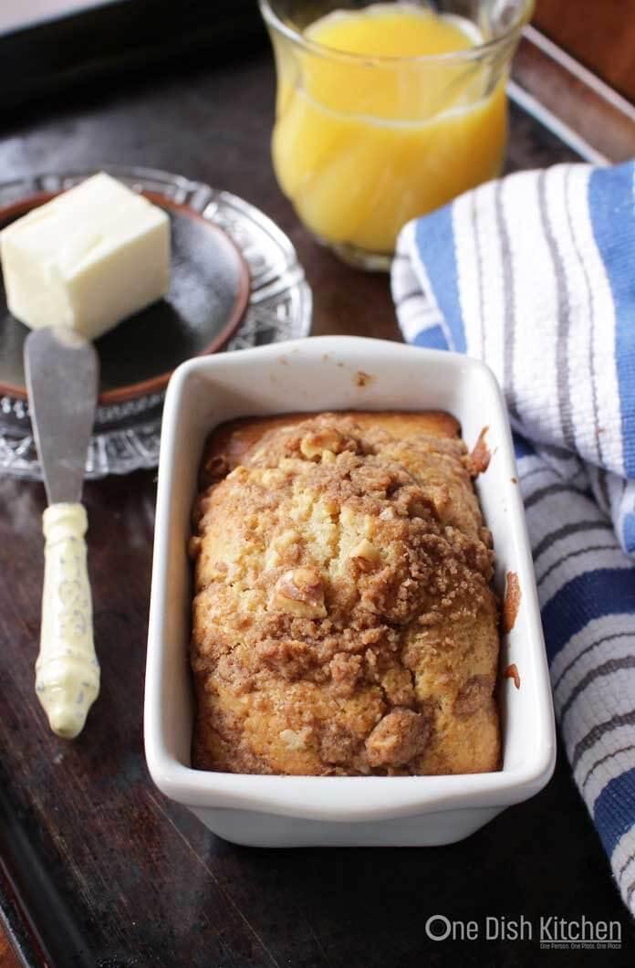Maple Walnut Muffin Loaf  One Dish Kitchen