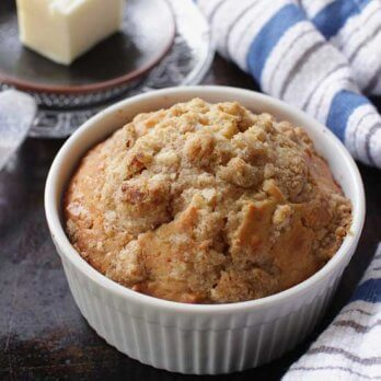 Maple Walnut Muffin For One | One Dish Kitchen