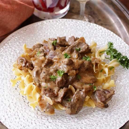 Beef Stroganoff For One | One Dish Kitchen