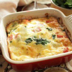 crustless spinach quiche | one dish kitchen