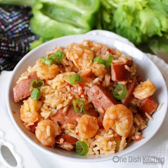 Shrimp and Sausage Jambalaya For One  One Dish Kitchen