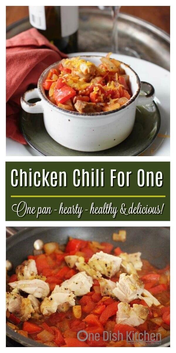chicken chili recipe for one
