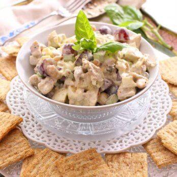 bowl of chicken salad