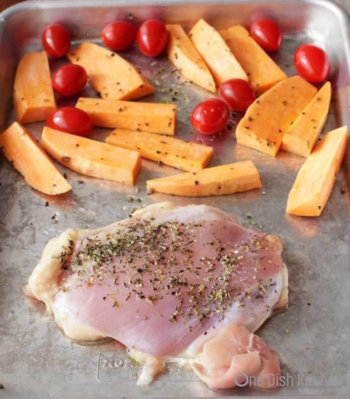 Sheet pan chicken dinner | One Dish Kitchen