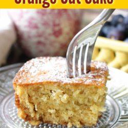 oat cake slice on a plate