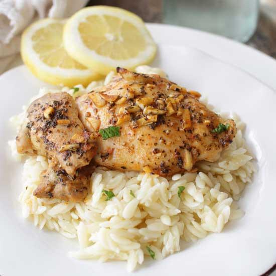 Lemon and Garlic Chicken For One   One Dish Kitchen