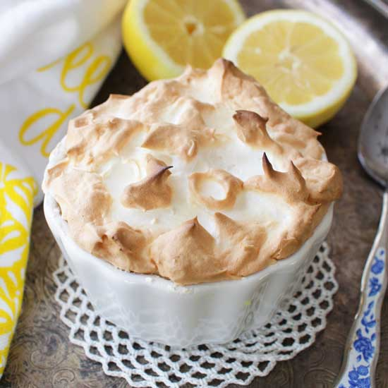 Lemon Meringue Pie For One | One Dish Kitchen | Holiday Gift Guide