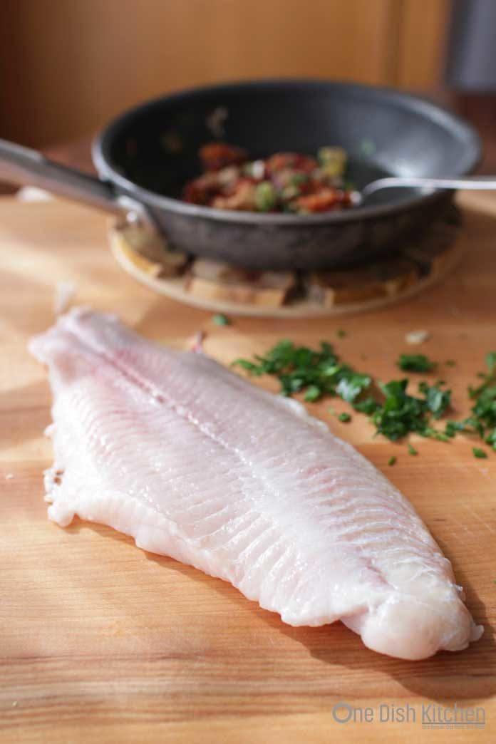 a piece of catfish   stuffed fish   one dish kitchen