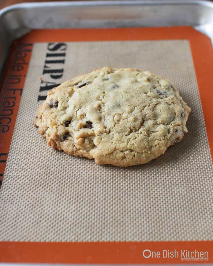 How To Make A Chocolate Chip Cookie For One - Deep Dish or on a Cookie Sheet | One Dish Kitchen