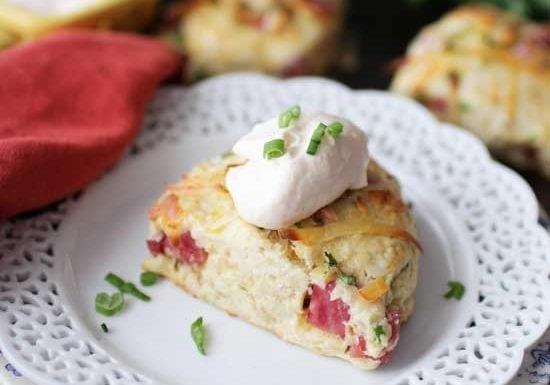 Small Batch Ham and Gruyere Scones | One Dish Kitchen